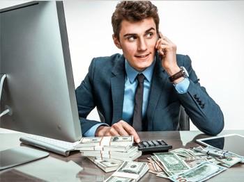 предприниматель с прибылью